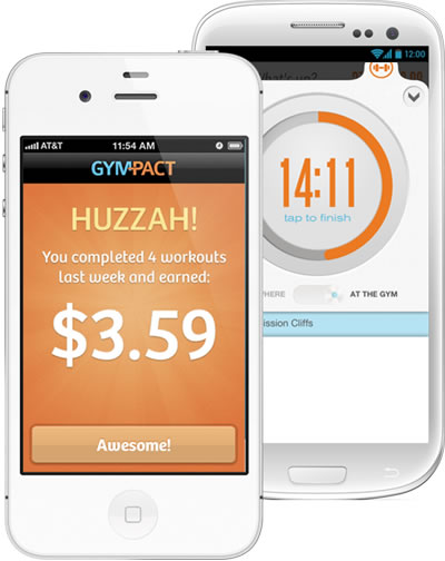 GymPact App. Available on iOS and Android.